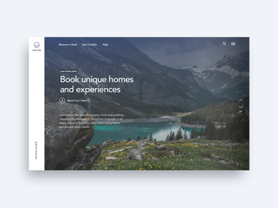 Alps Travel - Landing Page booking airbnb travelling ux design user interface user experience ui design ui travel map landing page interaction design