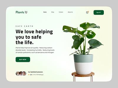 Plant Website Design UI visual design ui popular shot plant landing page landing page nazmul uiux website plant app plant web plants website