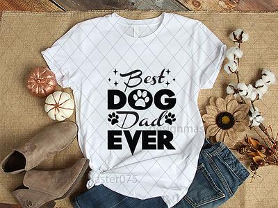 Best Dog dad ever typography ux vector ui icon design logo illustration branding graphic design gig fiverr svg designe svg cut file svg bundell t-shirt svg best dog dad ever