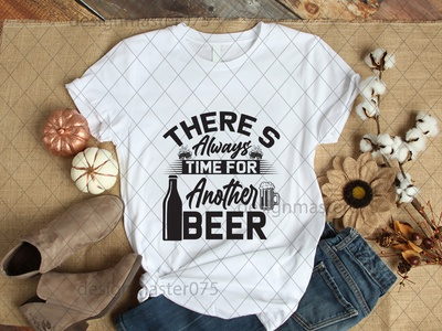 theres always time for antother beer typography ux vector design illustration icon branding logo motion graphics graphic design 3d animation ui