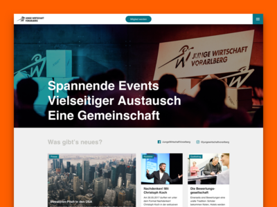 News and events - UI/UX Design