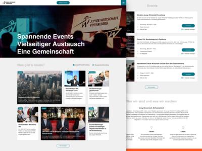 Events UI/UX design