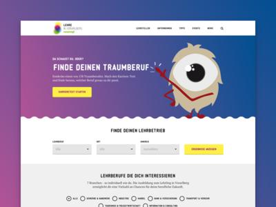 Website for finding apprenticeship - UI/UX Design