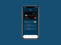 Banking App Card Settings