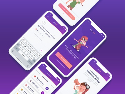 Vecihi colorful clean design illustration web