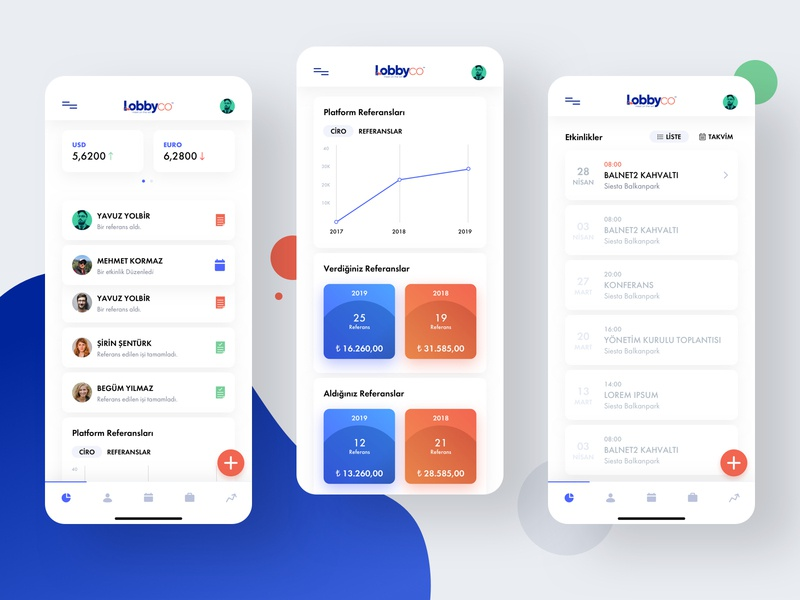 Lobbyco Corporate Mobile Application mobile app mobile app mobile design mobile ui flat clean corporate iphone x