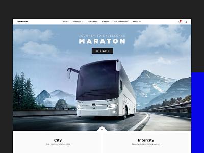 Temsa Corporate Website web ux ui clean automotive bus corporate