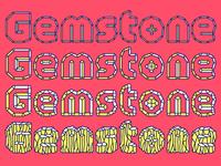 A cut typeface