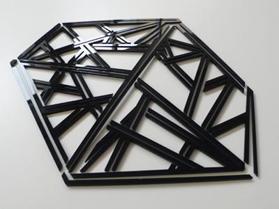 Pylon Typeface Lasercut