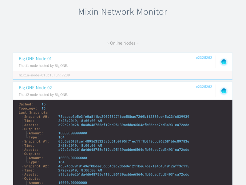 Mixin Network Monitor
