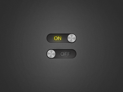 On - Off switch  ui switch on off button yellow metal