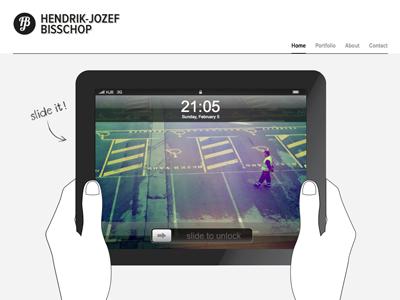 Ipad element ipad portfolio webdesign slide hands unlock screen