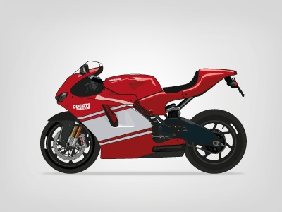 Motorcycle illustration motor motorcycle illustrator vector illustration ducati desmosedici rr red white