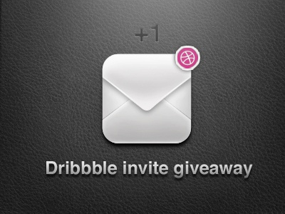 Dribbble Invite envelope invite dribbble giveaway vector icon