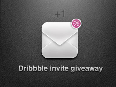 Dribbble Invite envelope invite dribbble giveaway vector icon
