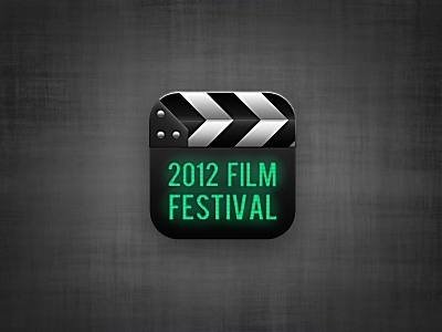 Film Festival Icon  film festival movie clapboard icon app
