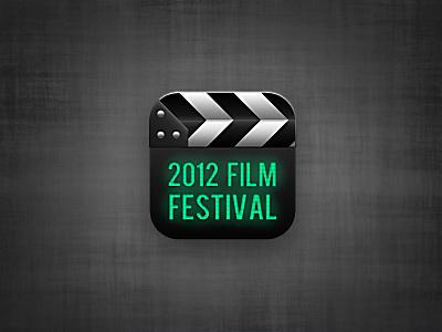 Film Festival Icon  film festival movie clapboard icon app