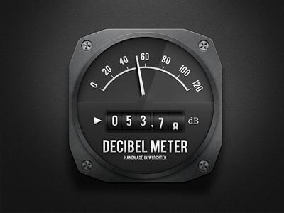 Decibel meter decibel meter gauge metal screw db