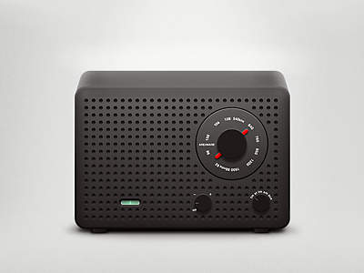 Radio  radio volume knob fm am minimalistic design