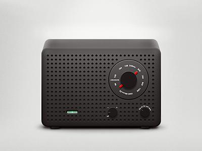 Radio  radio volume knob fm am minimalistic design