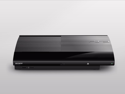 Super Slim PS3 playstation ps sony 3 console game photoshop