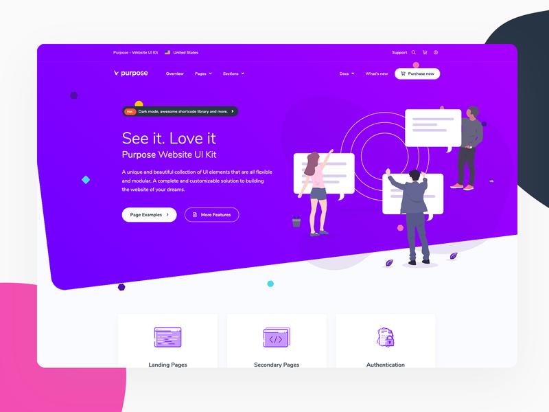 Purpose - Landing Page template illustration theme bootstrap4 responsive modern ui startup marketing agency business landing page landing
