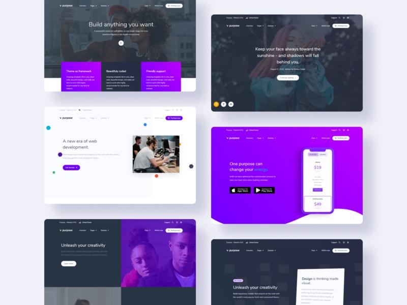 Purpose UI KIT - Landings bootsrap webthemes webdevelop webdesign business theme bootstrap