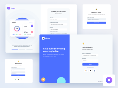 Authentication Screens for Figma theme dashboard application ui ui  ux web app navigation figma ui kit design system buttons design cards components ui