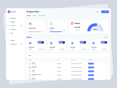 05 dribbble interface creative template components design theme stats table figma navigation sidebar dashboard file manager uiux ui app web