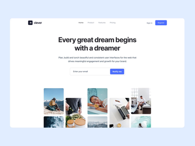 Hero Section from Webpixels Components travel agency business marketing motion graphics bootstrap template website presentation landing elements components ui section hero