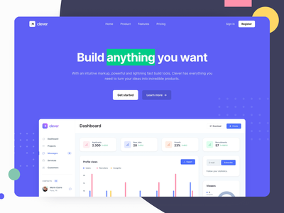 Product Landing Page - Webpixels Components bootstrap website design product business presentation marketing blocks section hero components ui template page landing