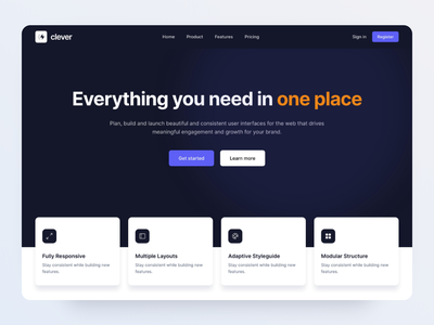 Landing Page - Made by Webpixels sections bootstrap components marketing agency business ui website presentation template page landing