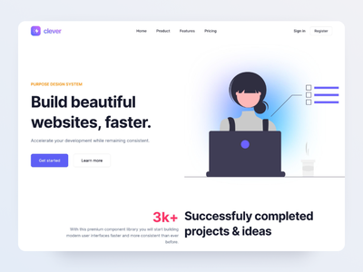 Landing Page - Made by Webpixels branding theme bootstrap components section hero illustration ux ui page template website