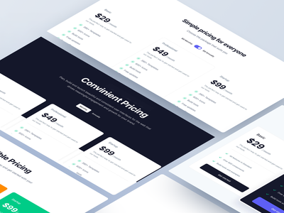 Pricing Pages and Sections - Made by Webpixels template business cards subscription saas blocks section design components website bootstrap boot templates ui plans payment pricing