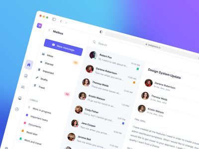 Bootstrap chat templates - Made by Webpixels bootstrap template components dashboard crm team discussion conversation messaging inbox mail chat