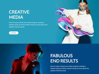 Homepage - Creative Agency - Pt. II