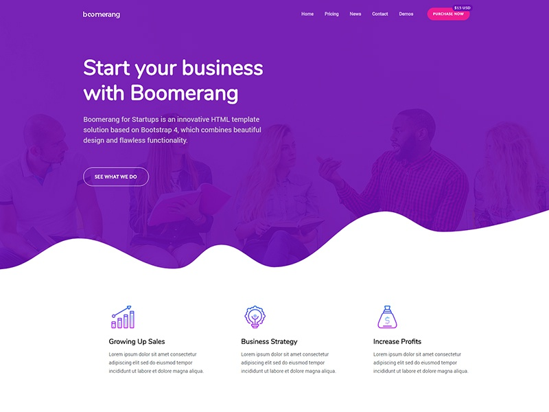 Demo startup homepage 1 800x600