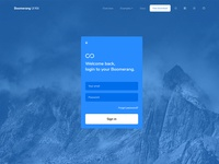 Boomerang UI Kit - Sign in page