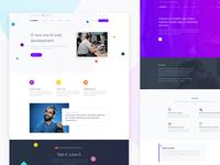Presentation landing page - Purpose Website UI