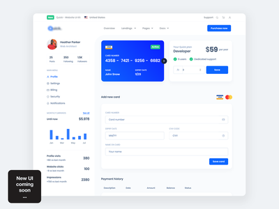 Account Billing from our newest UI Kit - Coming soon