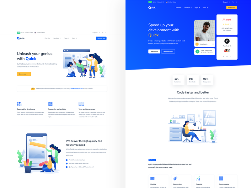 Landing Pages for Business and Agency uiux modern theme bootstrap website agency business landing