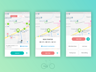 Cyclo - Bicycle Renting App