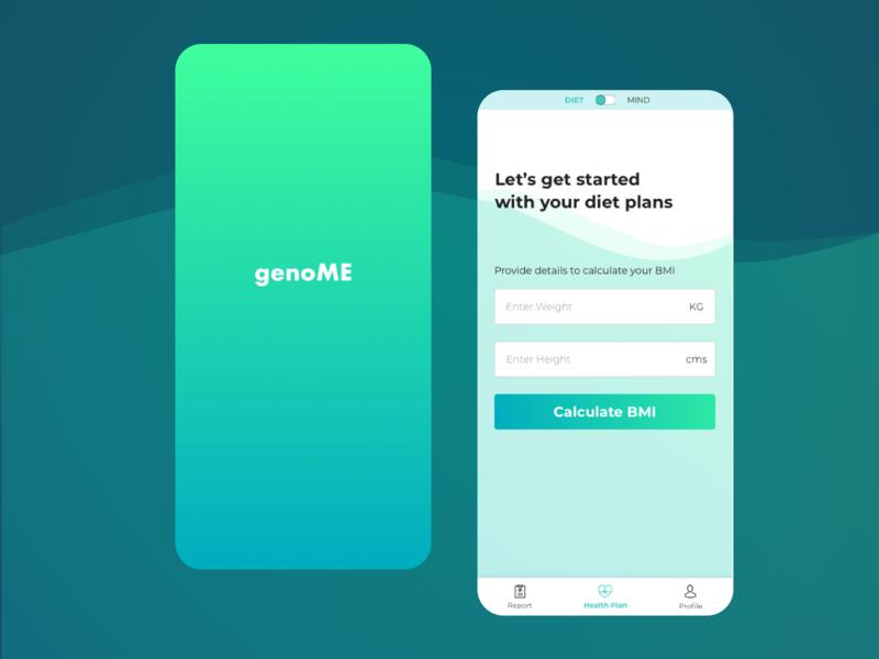 genoME - a preventive healthcare app ux meditation app diet app health app dna healthcare app materialdesign design cardui ui appdesign uxdesign userinterface