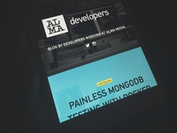 Developer blog frontpage (on iPad)