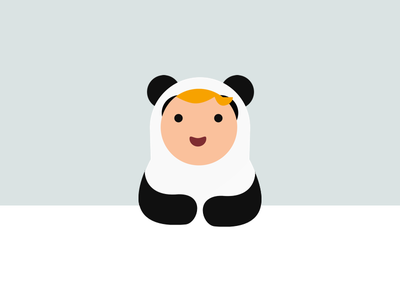 Panda Tom sweet cute baby app illustration panda-suit panda