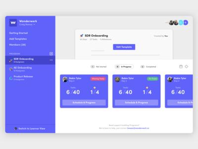 Wonderwerk Onboarding Web-App user inteface onboarding web-application web-app interface design app