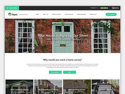 Heyes Surveyors trust pilot home survey house surveying surveyor homepage design website web design web
