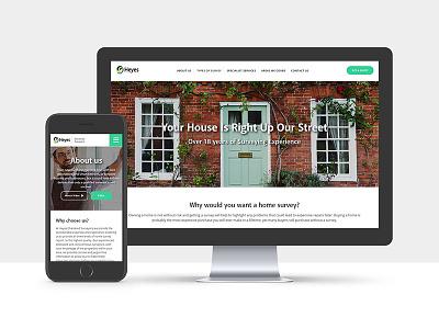 Heyes Chartered Surveyors house house surveyor surveyor design website web development web design web