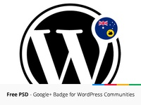 Free PSD - Google+ Badge for WordPress Communities