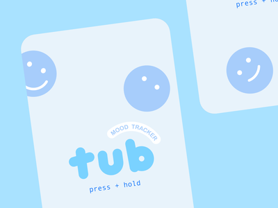 tub onboarding pastel sad happy mood interactive landing launch onboarding ux illustration branding typography cute type vector flat design 2d ui